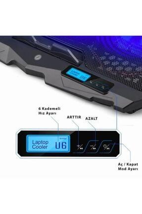 Frisby FNC-5230ST 4 Adet Fanlı Ledli LCD Kontrol Panelli Pro Standlı Notebook Soğutucu 1