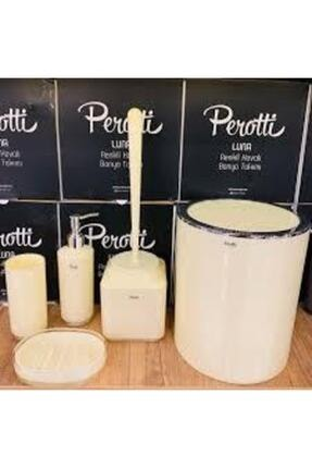 Perotti Krem Luna Banyo Takımı 5 Parça 0