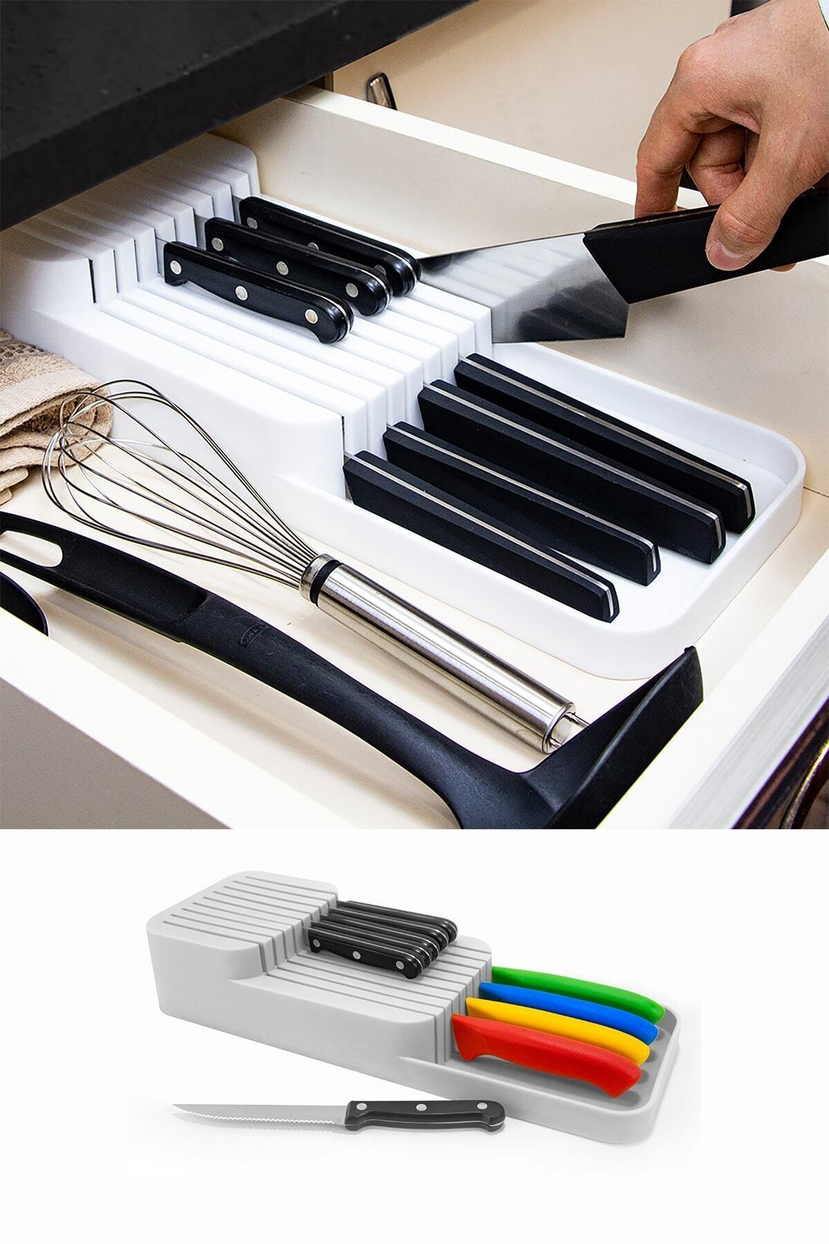 Çekmece Içi Bıçak Standı 2 Kademeli Düzenleyici