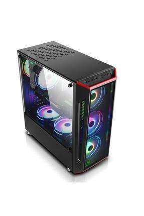 GAMETECH Redlıne Mesh 4x120mm Rainbow Fanlı Pro Gaming Oyuncu Bilgisayar Kasası (PSU YOK) 2