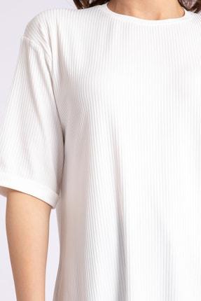 GİYSA Kadın Boyfriend Kaşkorse Ekru Tshirt 3683 2