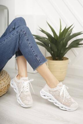 McDark Kadın Beyaz Dantelli Sneaker 2