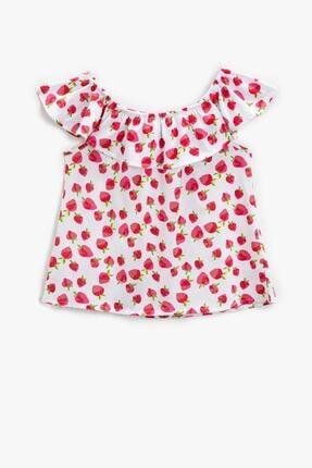 Koton Kız Çocuk Kırmızı Desenli T-Shirt 1YKG17519OK 1