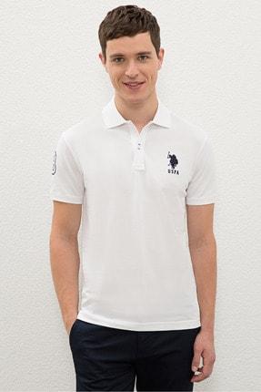 US Polo Assn Beyaz Erkek T-Shirt 0