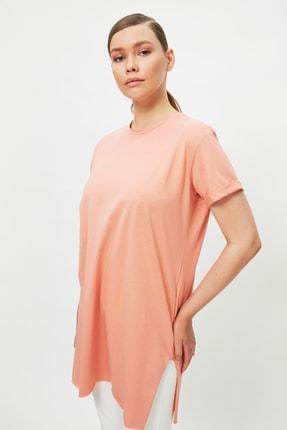 Trendyol Modest Somon Baskılı Tunik T-shirt TCTSS21TN0056 3