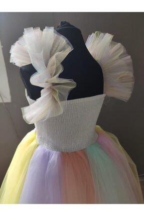 Mashotrend Tarlatanlı Renkli Unicorn Çocuk Kostümü - Unicorn Kız Çocuk Kostümü - Unicorn Kostümü 3