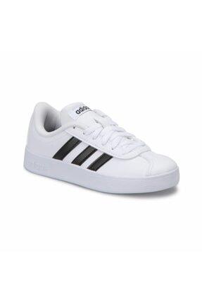 adidas VL COURT 2.0 K -92 Beyaz Siyah Erkek Çocuk Sneaker 100320922 1