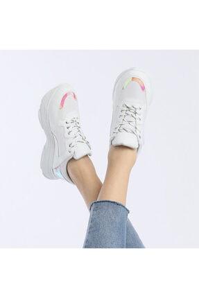 Butigo 19sf-1501-19k Beyaz Kadın Sneaker Ayakkabı 4