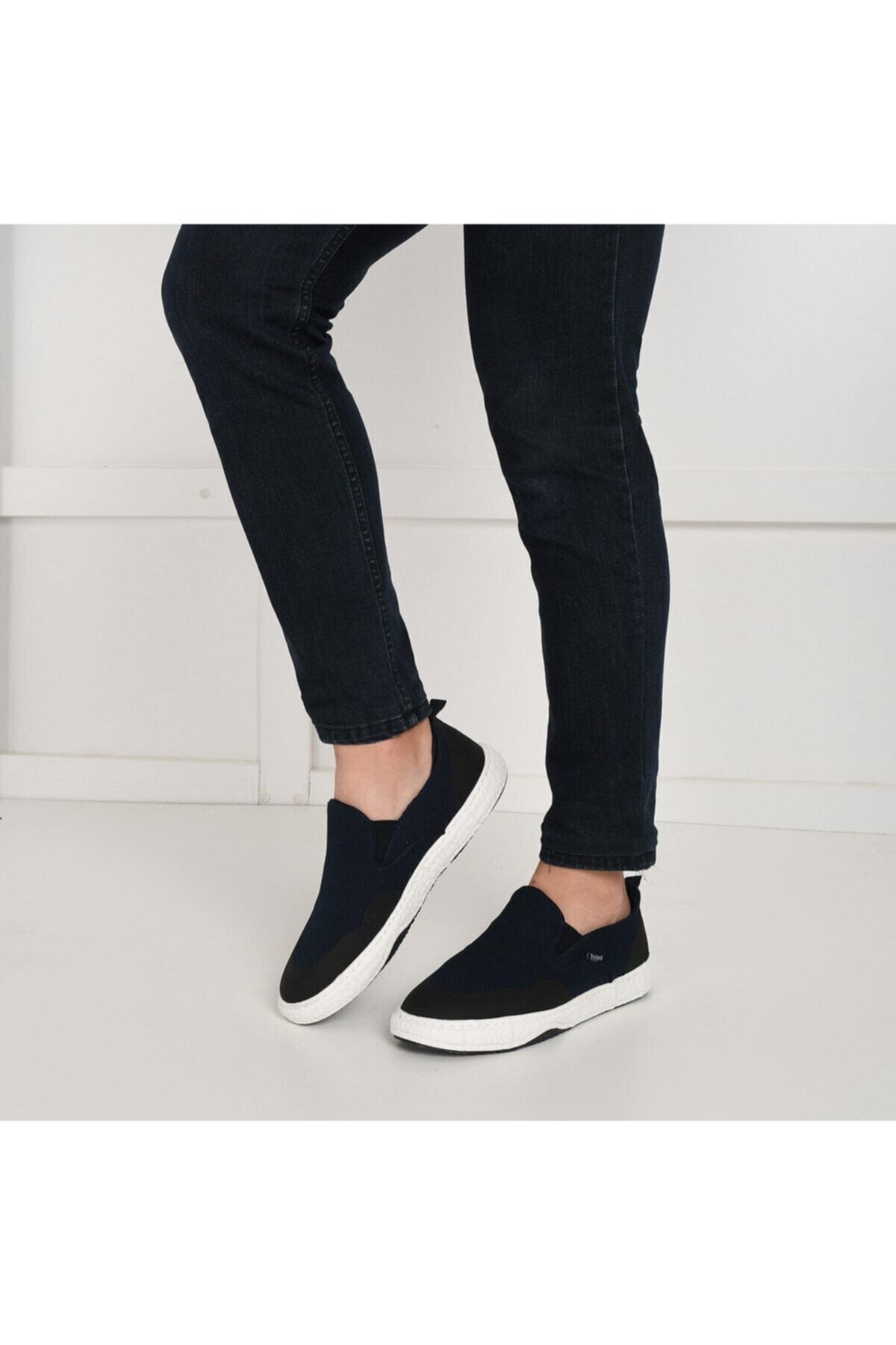 228253 Lacivert Erkek Slip On Ayakkabı 100495020