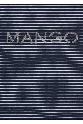 Mango Organik Pamuklu Logolu Tişört 4