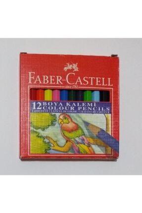 Faber Castell Karton Kutu Boya Kalemi 12 Renk Yarım Boy 0