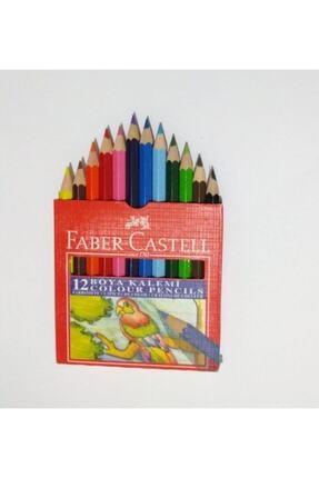 Faber Castell Karton Kutu Boya Kalemi 12 Renk Yarım Boy 2