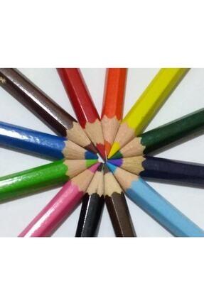 Faber Castell Karton Kutu Boya Kalemi 12 Renk Yarım Boy 3
