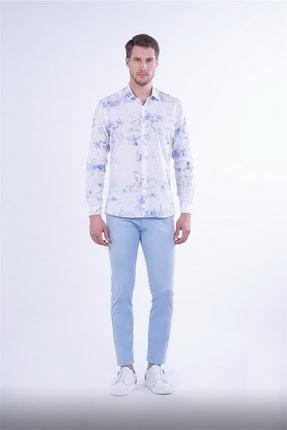 Efor Slim Fit Mavi Spor Pantolon 0