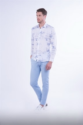 Efor Slim Fit Mavi Spor Pantolon 1