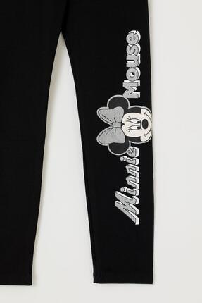 Defacto Kız Çocuk Siyah Mickey Mouse Baskılı Slim Fit Bilek Boytayt 1