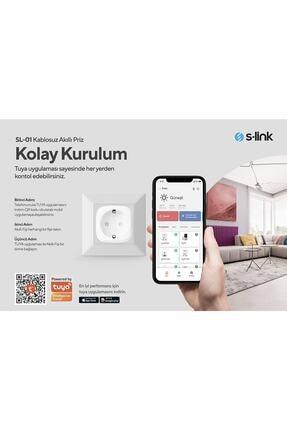 S-Link Swapp SL-01 16 Amper Akıllı Wifi TUYA Google Assistant Alexa Siri Destekli Priz Wifi TUYA 2