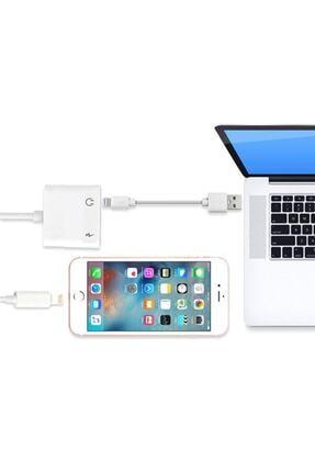 Ally Iphone Ipad Lightning Kulaklık Ve Şarj Çevirici Çoğaltıcı Kablo 4