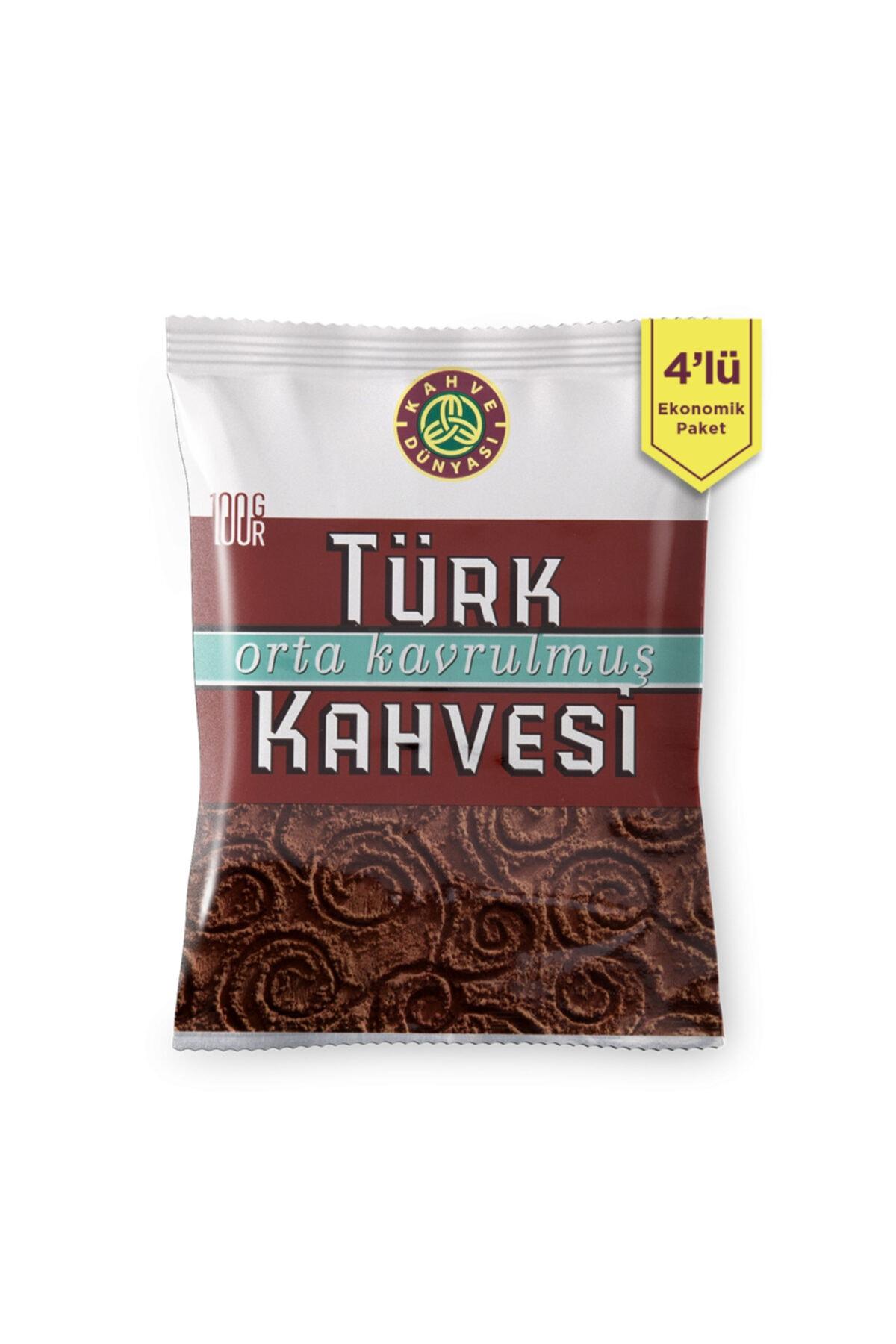 4'lü Orta Kavrulmuş Türk Kahvesi