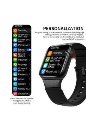 X-GEAR Smartwatch Hw16 Premium Siyah Türkçe Akıllı Saat Hd Ips Tam Ekran Akıcı Arayüz Suya Dayanıklı 4