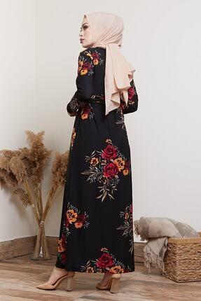 MODAEFA Kadın Siyah Elbise 2