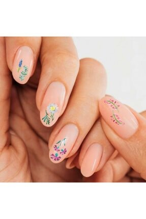Artikel Çiçekler Tırnak Dövmesi,Tırnak Tattoo,Nail Art ,Tırnak Sticker 2