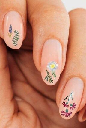 Artikel Çiçekler Tırnak Dövmesi,Tırnak Tattoo,Nail Art ,Tırnak Sticker 4