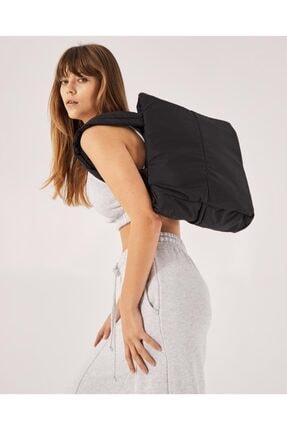Shule Bags Kabartmalı Puf Kumaş Shopper Çanta Napoli Siyah 0