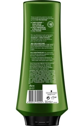 Gliss Bio-tech Restore Güçlendirici Saç Kremi 360 ml 6'lı 4