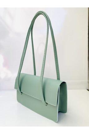 Göray Fashıon Loxxa Iki Saplı Yeşil Kadın Baguette Çanta 1