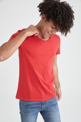 Defacto Slim Fit V Yaka Basic Kısa Kollu Tişört 2