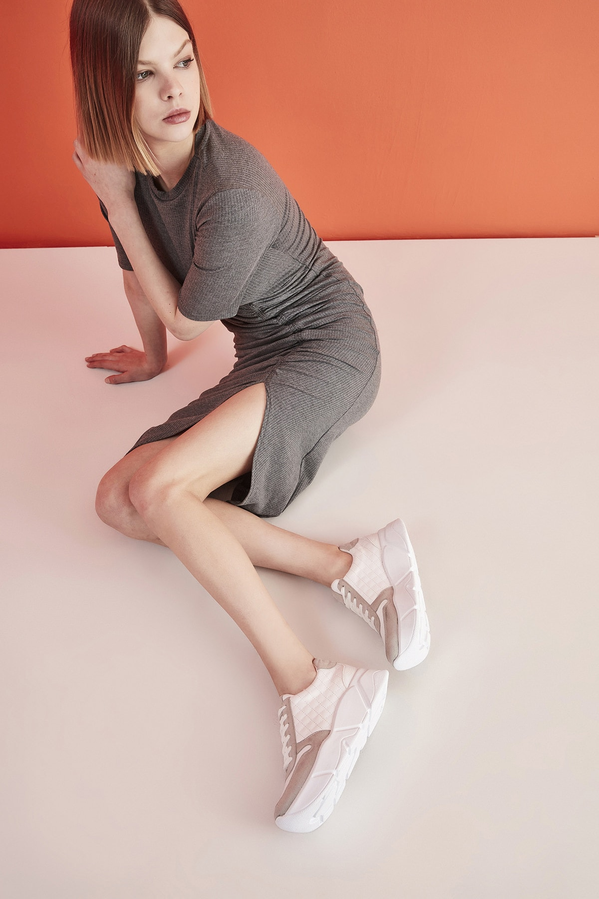 Beyaz Yaya Kadın Spor Ayakkabı