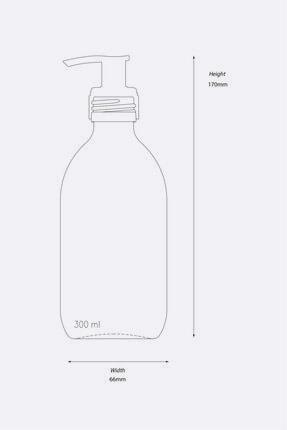 TriChi Design 300ml Amber Cam Sıvı Sabunluk Retro Tasarım 3d Hand Wash Etiket 2