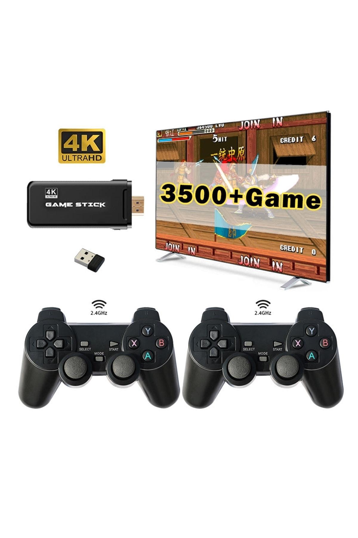 Kablosuz Çift Kol Retro Oyunlar Game Stick 3500 Oyun Atari
