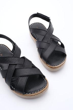 Marjin Kadın Hakiki Deri Sandalet Foletasiyah 0