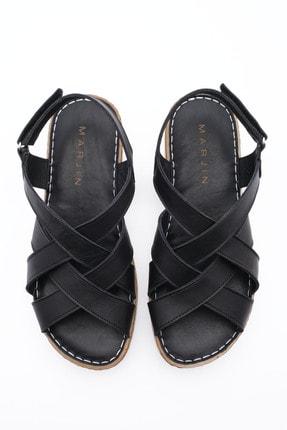 Marjin Kadın Hakiki Deri Sandalet Foletasiyah 4