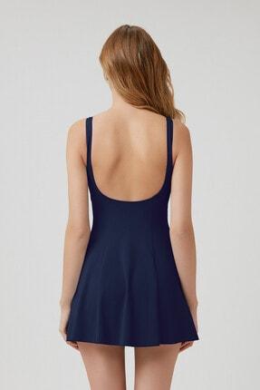 Kom Kadın Lacivert Jerom Şortlu Elbise Toparlayıcı Mayo 2