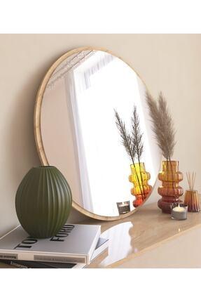 MONEayna Dekoratif Yuvarlak Ayna Natural Antre Hol Koridor Duvar Salon Mutfak Banyo Wc Ofis Aynası Mg301 1