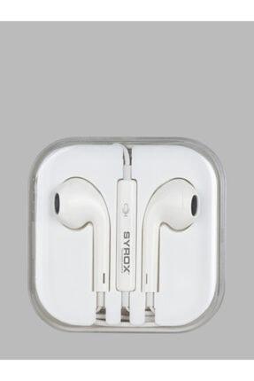 Syrox K12a 3.5 mm Jak Girişli Mikrofonlu Iphone Uyumlu  Kulaklık 1