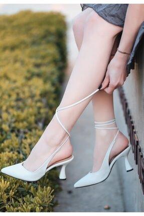 Kadın Ten Cilt Topuklu Ayakkabı Numara 35 CEM-KDN-KTP-22517314026