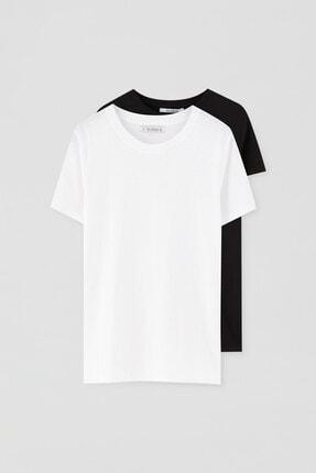 Pull & Bear 2'li Basic Pamuklu T-shirt Paketi 4