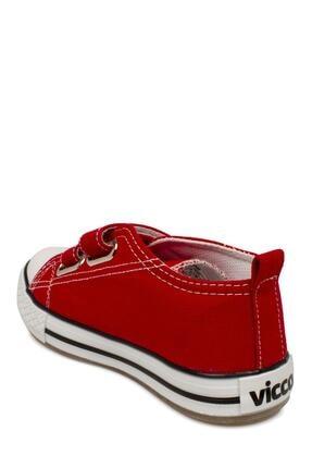 Vicco 925.p20y150 Patik Işıklı Keten Kırmızı Çocuk Spor Ayakkabı 4