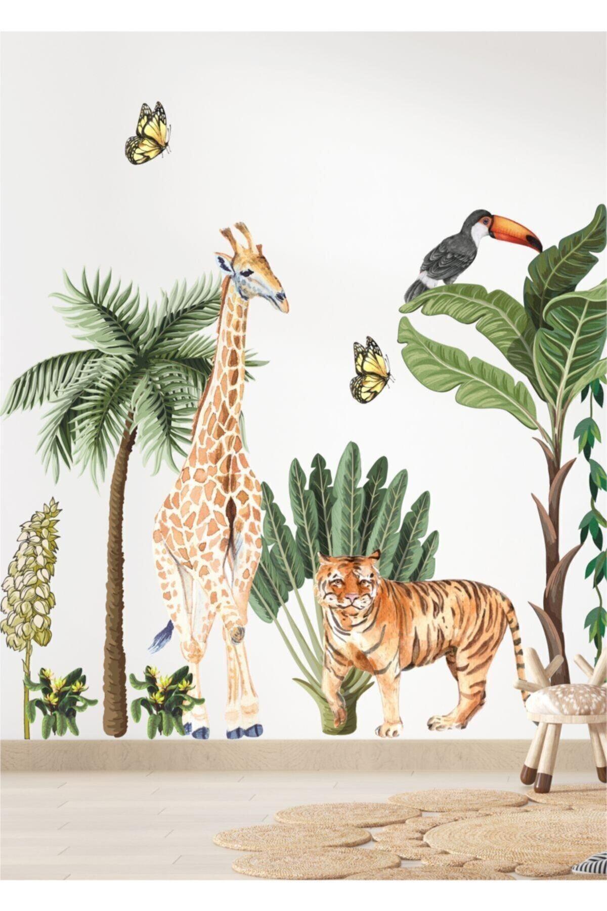 PİKSELİFE Safari Macerası Çocuk Odası Duvar Sticker