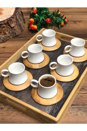 Leter Harmony Bambu 6 Kişilik Kahve Takımı 0
