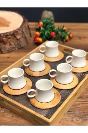 Leter Harmony Bambu 6 Kişilik Kahve Takımı 1