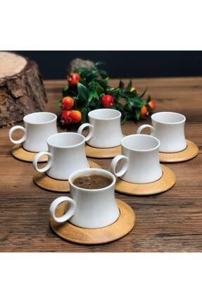 Leter Harmony Bambu 6 Kişilik Kahve Takımı 2