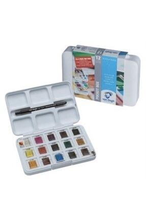 Van Gogh Talens Tablet Suluboya 12+3 Renk +  Sulu Boya Defteri 300 gr 0