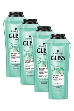 Gliss Nutribalance Repair Saç Dökülmesi Karşıtı Şampuan 360 ml 4'lü 0