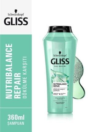 Gliss Nutribalance Repair Saç Dökülmesi Karşıtı Şampuan 360 ml 4'lü 1