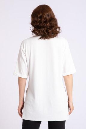 GİYSA Kadın Boyfriend Kaşkorse Ekru Tshirt 3683 1